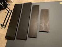 Wood floating shelves from ikea with mounts set of 4 wooden shelving- wood wall shelf Los Angeles, 90046