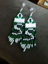 Rider beaded ear rings Regina, S4T 1Y1