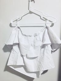 White off the shoulder topshop top  785 km