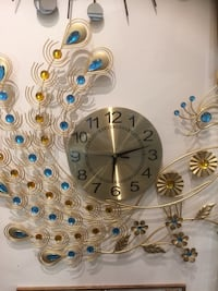 gold-colored peacock wall clock Markham, L3T
