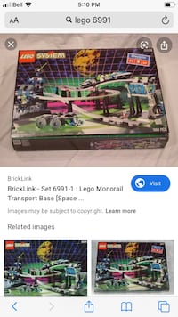 Lego Monorail transport Base 6991 incomplete RARE Toronto, M9N 3C2