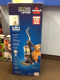 blue and white Bissell upright vacuum cleaner box Hagerstown, 21740