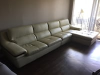 COUCH!!! American Heritage 3pcs Ivory leather sectional OBO Los Angeles, 90004