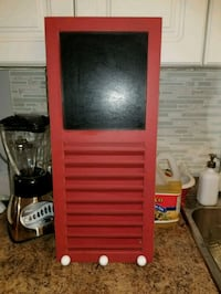 red and white wooden cabinet Mississauga