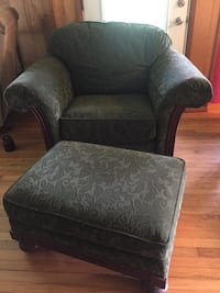Green, Clayton Marcus chair and ottoman (green) La Fayette, 13084