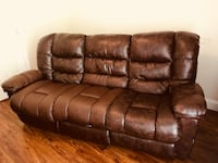 Brown leather 3-seat sofa North Charleston, 29418
