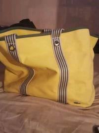 yellow and black leather tote bag Bay Shore, 11706