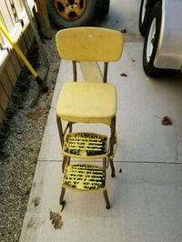 yellow and gray folding chair