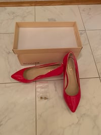 Brand new red leather heels size 6 Herndon, 20170