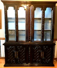 Vintage two piece lighted China Cabinet  Oklahoma City