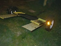 black and yellow utility trailer