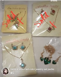 several assorted-color jewelry set packs