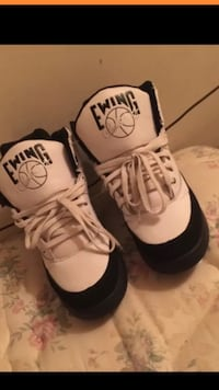 white and black ewing basketball shoes Alexandria, 22312