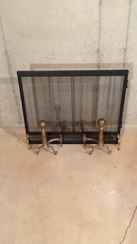 Fireplace screen and brass andirons Fairfax, 22033