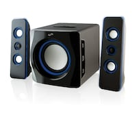 iLive Bluetooth Speaker System with Subwoofer blue glow Vaughan