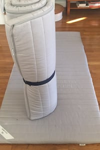 Mattress-slim foam with removable cover- two Minnesund ikea