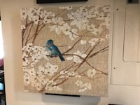Large Blue bird on white leaf tree Canvas Painting... Brentwood, 20722
