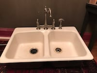 white twin square sink with stainless steel faucet Washington, 20011