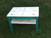 Compass engraved teal and white coffee table  North Cowichan, V9L 5S2