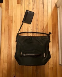 Vegan Leather Purse w small wallet attached  784 km