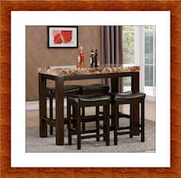 5pc pub table with 4 stools free delivery  McLean