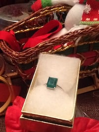 925 Sterling Silver Emerald & Diamond Ring Size 9 New $45 Columbus, 43110
