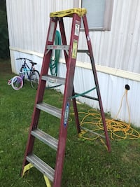 red and gray Werner metal step ladder Stafford, 22556