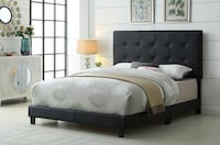 Brand new black queen faux leather button tufted bed frame  多伦多, M1P
