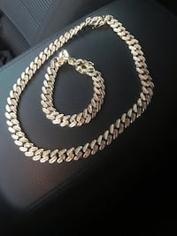 "Cuban link 16"" chain and bracelet  Chesapeake, 23320"