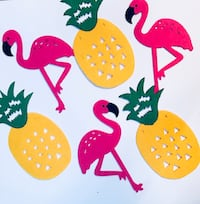 yellow pineapple and pink flamingo artwork decors Laval, H7E