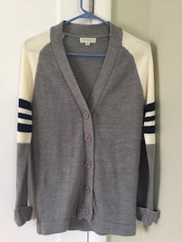 Gray, white, and navy 5-button cardigan Sacramento, 95816