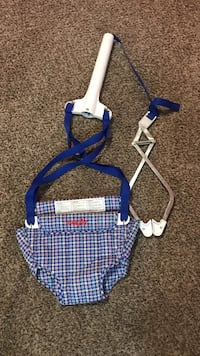 Blue and white hanging jumperoo Akron, 44314