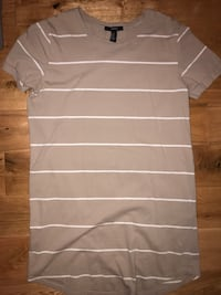 brown and white t-shirt dress Coquitlam, V3K 3L4
