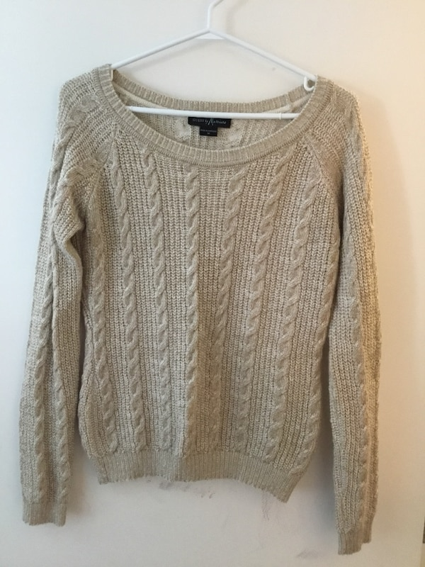 Marciano cable knit sweater