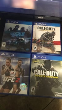 Four assorted ps4 game cases Winnipeg, R2Y
