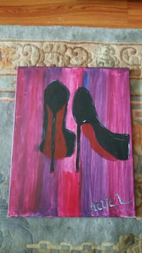 red and black abstract painting Alexandria, 22306