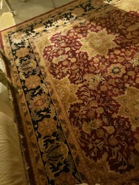 brown and black floral area rug Alexandria, 22312