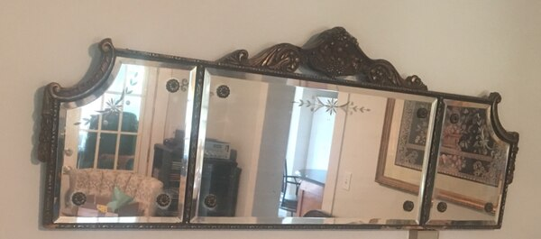 Beautiful Beveled Antique Mirror
