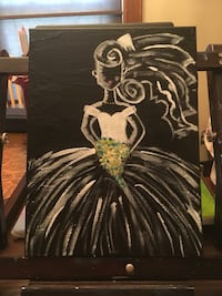 Bride canvas painting Manchester, 03102