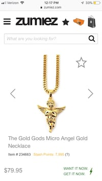 Gold Angel Necklace Perfect Condition New Providence, 07974