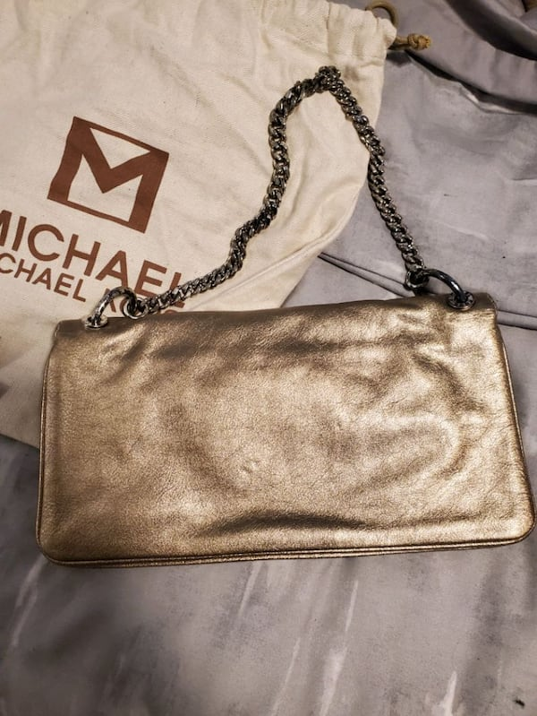 Michael Kors gold purse  2
