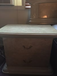 beige and white ceramic nightstand New Bedford, 02745
