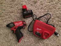 red and black Milwaukee cordless power drill Montreal