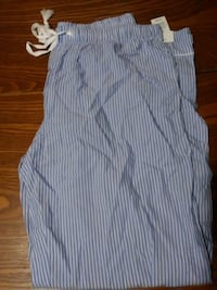 blue and white stripe button-up sleeveless shirt null