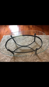 black metal framed glass top coffee table Centerville, 45458