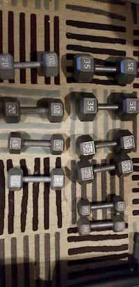 Weight stand - bench - weights - dumbbells - everything for $390 Calgary