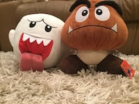 Mario Goomba and Boo plush figures Langley, V3A 6R9
