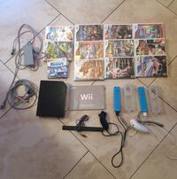 Original Nintendo Wii Black Console with 2 controllers 13 games, 1 nunchuck included  New York, 11411
