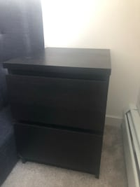 Two Black two drawer side tables  Edmonton, T6W 3M1