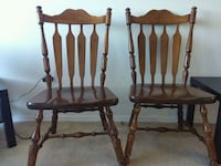 Three wooden windsor chairs London, N6H 4P4